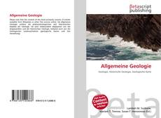 Обложка Allgemeine Geologie