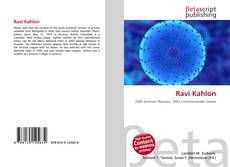 Bookcover of Ravi Kahlon