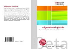 Обложка Allgemeine Linguistik