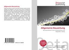Обложка Allgemeine Bauzeitung