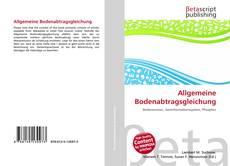 Обложка Allgemeine Bodenabtragsgleichung