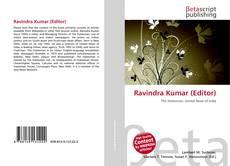 Couverture de Ravindra Kumar (Editor)