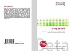 Capa do livro de Vinay Shukla