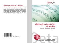 Couverture de Allgemeines Deutsches Sängerfest