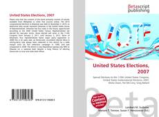 Bookcover of United States Elections, 2007