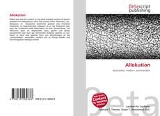 Buchcover von Allokution