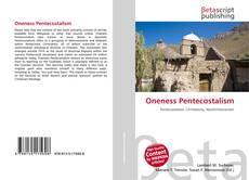 Buchcover von Oneness Pentecostalism