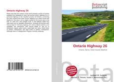 Bookcover of Ontario Highway 26