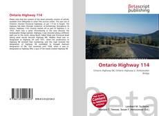 Ontario Highway 114 kitap kapağı