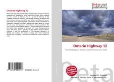 Buchcover von Ontario Highway 12