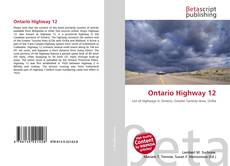 Обложка Ontario Highway 12