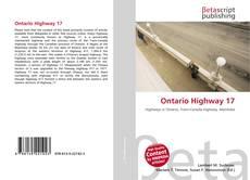 Bookcover of Ontario Highway 17