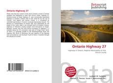 Ontario Highway 27 kitap kapağı