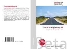 Buchcover von Ontario Highway 98