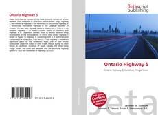 Ontario Highway 5 kitap kapağı