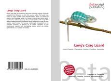 Bookcover of Lang's Crag Lizard