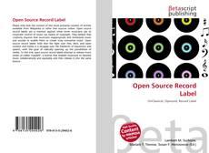 Open Source Record Label的封面