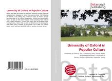 Couverture de University of Oxford in Popular Culture