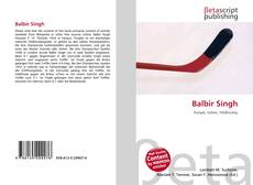 Bookcover of Balbir Singh