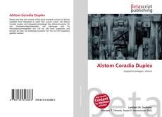 Portada del libro de Alstom Coradia Duplex
