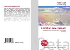 Bookcover of Operation Carpetbagger