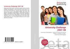 Capa do livro de University Challenge 2007–08
