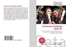 Bookcover of University Challenge 2006–07