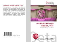 Southwark Borough Election, 1925 kitap kapağı