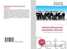 """National-Democratic Association """"Ukraine""""的封面"""