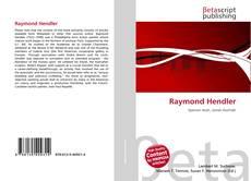 Bookcover of Raymond Hendler