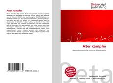 Alter Kämpfer kitap kapağı