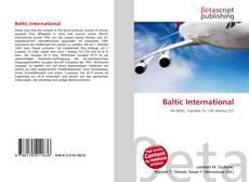 Capa do livro de Baltic International