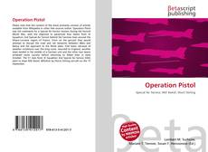 Portada del libro de Operation Pistol