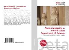 Обложка Nation Magazine v. United States Department of Defense