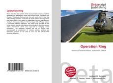 Capa do livro de Operation Ring