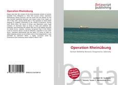 Capa do livro de Operation Rheinübung
