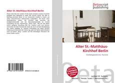 Buchcover von Alter St.-Matthäus-Kirchhof Berlin