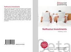 Bookcover of Nathusius Investments