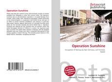 Capa do livro de Operation Sunshine