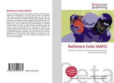 Capa do livro de Baltimore Colts (AAFC)