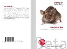 Bookcover of Maclear's Rat