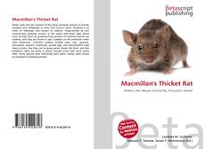Bookcover of Macmillan's Thicket Rat