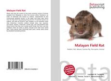 Bookcover of Malayan Field Rat