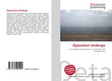 Capa do livro de Operation Undergo