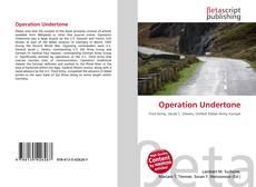 Capa do livro de Operation Undertone
