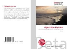 Capa do livro de Operation Unicorn