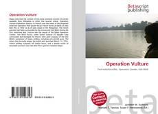 Capa do livro de Operation Vulture