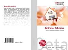 Copertina di Balthasar Fabricius
