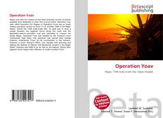 Capa do livro de Operation Yoav