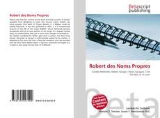 Capa do livro de Robert des Noms Propres